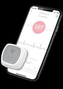 Coala Heart Monitor and smartphone